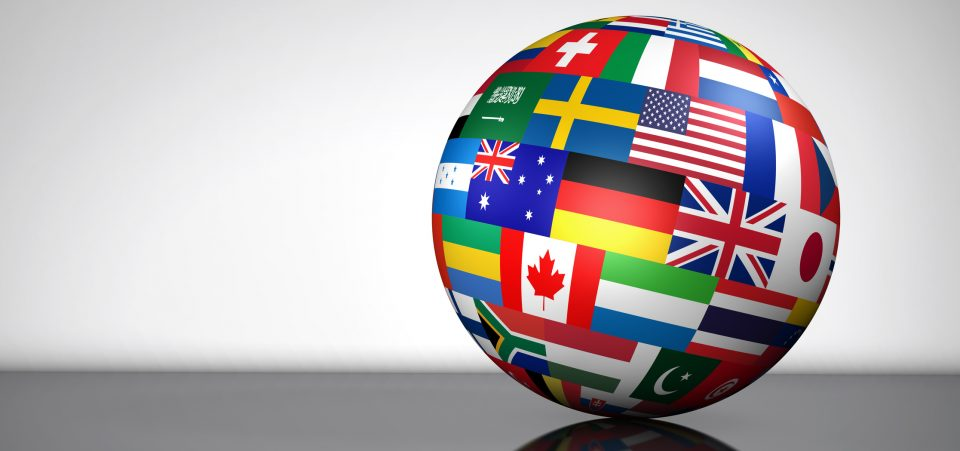 Global Business International Globe Flags