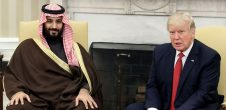 Donald Trump with Mohammed Bin Salman for Facebook
